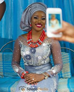 "2,475 Likes, 24 Comments - Sugar Weddings & Parties (@sugarweddings) on Instagram: ""Lovely  bride,cute smile.  : @spacomedia #grey #neckpiece #red #smile #traditionalwedding"""