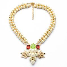 Pearl & Crystal Grape Pendant Necklace – Fanduoduo Jewelry