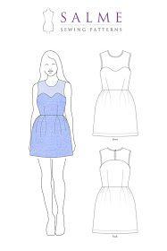 Yoke dress pattern