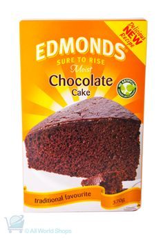 Moist Chocolate Cake Mix - Edmonds Sure to Rise - Cake Stall, Cookery Books, Best Cake Recipes, Chocolate Cake Mixes, Take The Cake, Pavlova, Thanksgiving Recipes, Yummy Cakes, Afternoon Tea