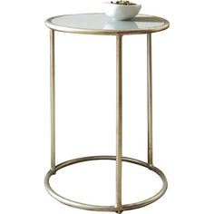 Versatile and sleek, this tripod-style end table blends beautifully with contemporary or classic motifs and in a variety of rooms.