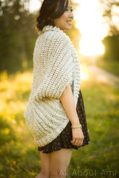 Easy Chunky Crochet Sweater - All About Ami