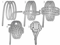 Rope Knots, Macrame Knots, Macrame Patterns, Beading Patterns, Diy Home Crafts, Fun Crafts, Monkey Fist Knot, Knot Pillow, Paracord Projects