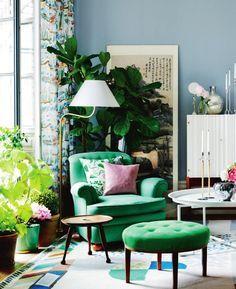 Image result for green living room