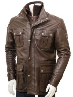 An awesome leather jacket in brown, suitable for all conditions. The beauty of leather is that it performs so well as a material. This jacket exploits all the best qualities of a top-grade sheep nappa skin. It is soft, supple but still extremely durable. Brown Leather Jacket Men, Mens Leather Coats, Leather Trench Coat, Leather Jackets, Trench Coats, Real Leather, Cool Jackets For Men, Revival Clothing, Men Closet