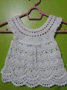 Vestido tejido para bebé crochet - Imagui