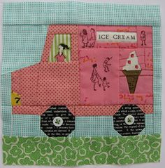 maybe a center block for the ice cream block quilt I'll make with the blocks I won?
