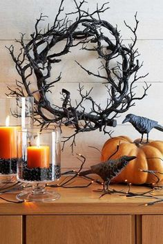 Spooky Halloween Party Decoration 008 - Home to Z Retro Halloween, Halloween Tags, Casa Halloween, Spooky Halloween Decorations, Dollar Store Halloween, Halloween Home Decor, Outdoor Halloween, Halloween Cupcakes, Halloween 2018