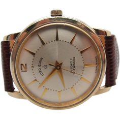 """Vintage 1960s Mens Lord Elgin 30 jewel """"American Made"""" automatic very fine runs"""