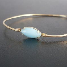 Turquoise Bracelet Anja  Turquoise and Gold by FrostedWillow, $12.95