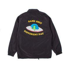 Same Shit Coach Jacket (Black) Size Chart, Sweatshirts, Sweaters, Jackets, Clothes, Collection, Black, Potato, Fashion