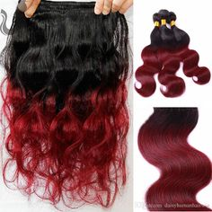 2016 Fashion 8a Ombre Red Human Hair Brazilian Virgin Hair Body Wave1b/Red Hair Extension Brazilian Virgin Ombre Bundles Best Hair Weaves Best Human Hair For Weaving From Daisyhumanhairwig, $32.67| Dhgate.Com