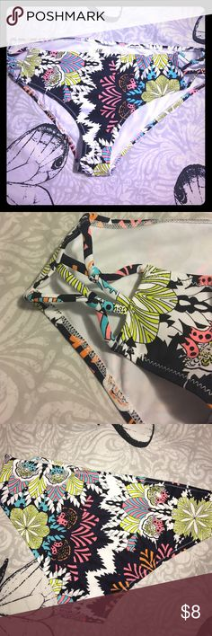 Women's bikini bottoms. Super cute women's bikini bottoms. Never worn. From H&M. Has cut out sections on sides. Floral print. Great condition. H&M Swim