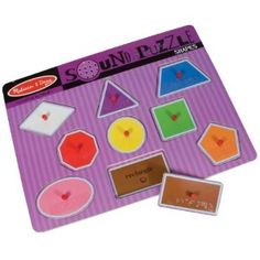Melissa and Doug Sound Puzzle with Braille Pieces Talking Shapes - No need to adapt!