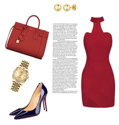 """""""Untitled #21"""" by enakalesiic ❤ liked on Polyvore featuring Yves Saint Laurent, BERRICLE and Rolex"""