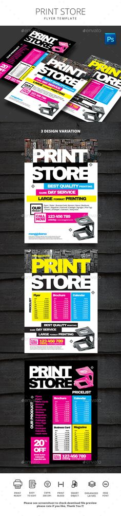 Toys Store Flyers 4 Options Business Flyers Font Logo And Flyer