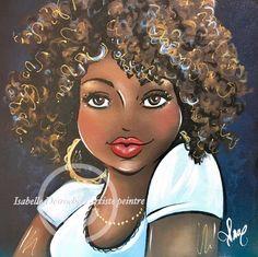 Black Girl Cartoon, Black Girl Art, Black Women Art, Art Girl, Cartoon Art, Cartoon Drawings, Arte Black, Plus Size Art, Natural Hair Art