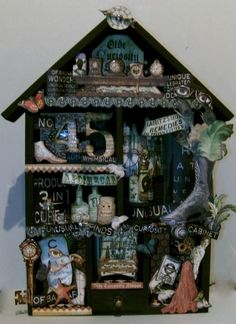 This Olde Curiosity Shoppe Altered House by @Clare Charvill is a magical piece of art! Love all the beautiful details! #graphic45 #DIY