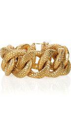 YVES SAINT LAURENT  Gold-plated stingray-effect chain bracelet  €550