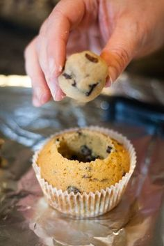 Cookie Dough Cupcakes Topped with Cookie Dough Frosting   Cupcake Project