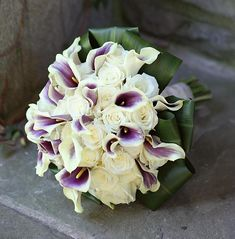 Picasso Calla Lillies & White Roses Bridal Bouquet