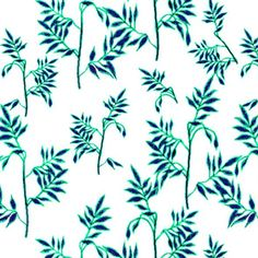 soft teal and blue leaves Art Print by AndSO designs Tanya J. de Wet - X-Small Blue Leaves, Creative Business, Custom Fabric, Spoonflower, Fabric Design, Plant Leaves, Branding Design, Craft Projects, Teal