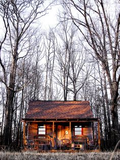A little cabin in the woods...hike into this site and then rest here all night!