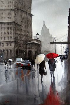 """""""Rainy Day in Gastown"""" by S KHAN"""