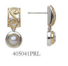 Fresh Water Pearl Earrings  - Eucalyptus Island Collection