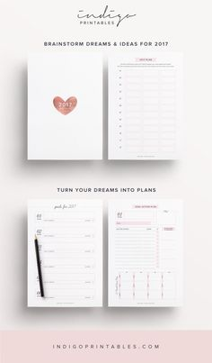 2017 Planner, 192 Printable Pages | Created by #IndigoPrintables The 2017 Goal Planner Kit really is the Crème de la Crème of all Planners, providing you with the tools you need to make 2017 a super successful one. Set your goals for the year and then create an action plan to make them happen. Your 2017 Planner also features a flexible weekly planner that will help you restore balance to your busy lifestyle and create healthy habits along the way. Your 2017 Planner has been purposely…