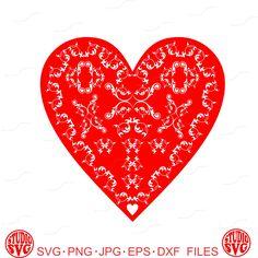 Flourish, Love, Hearts, Red, Heart, Wedding, Digital Cut File, Vinyl Cutting File, SVG, DXF, EPS, Silhouette, Cricut by StudioSVG on Etsy