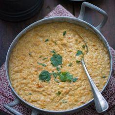 Dal (dahl) de lentilles corail, coco, curry