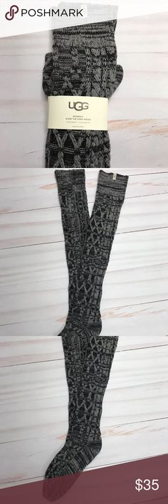 UGG Over The Knee Women's Cable Knit Cable Socks New UGG over the knee women's cable knit thick socks.  The color is charcoal heather. UGG Accessories Hosiery & Socks