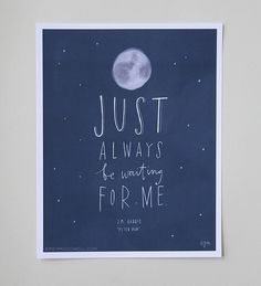 "Design Mom Collection: Peter Pan Print ""Just always be waiting for me."" Inspirational Quote, Hand-Lettered 8""x10"""