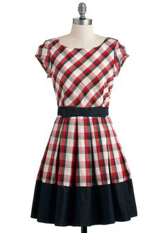 Life is a Maize Dress in Plaid, #ModCloth