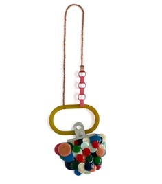 Jantje Fleischhut  Necklace: To be in Orbit 2011  Silver, pearls, copper, resin, plastic