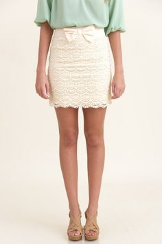 RESTOCK: Breathtaking It Easy Skirt-Cream