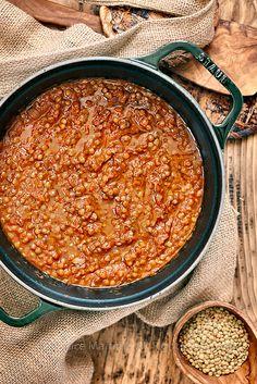 Lentil ragout Recipe coming soon on KBK Veggie Recipes, Soup Recipes, Vegetarian Recipes, Easy Cooking, Cooking Recipes, Lentil Ragu, Good Food, Yummy Food, Gourmet