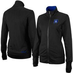 Duke Blue Devils Ladies Studio Full Zip Jacket - Black