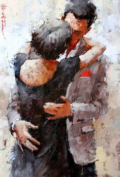 andre kohn the kiss series Painting People, Figure Painting, Painting & Drawing, Psy Art, Beautiful Paintings, Creative Art, Illustration Art, Sketches, Fine Art