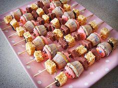 cupcake kabobs ~ too cute