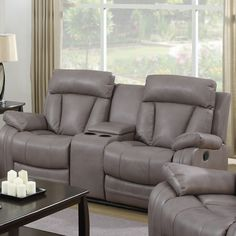 Chintaly Modesto Bonded Leather Reclining Loveseat & Reviews | Wayfair