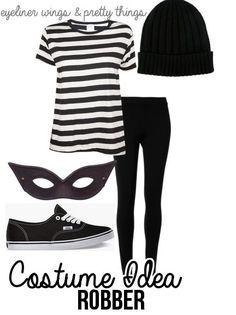 Easy College Halloween Costumes - Robber // eyelinerwingsandprettythings