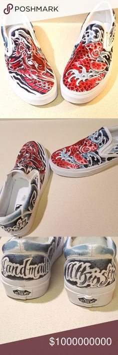 Robert Atkinson Hand Drawn shoes Hand drawn shoes by: Famed tattoo Artist Robert Atkinson (10,000 Waves Tattoo) Artist & professional Ink-master. Served as a judge on the hit Ink-master t.v show! Professional, Super talented ,and master artist! Robert Atkinson has worked on my husband,&  my mom! Jojo Ackermann has worked on my brother!  (super talented shop!) My husband loved tattoo's & passed away in a car accident. I wanted to post the hand drawn  shoes Robert Atkinson designed!..  10,000…