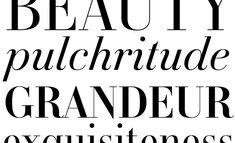 KARLOFF. /Didone type font.  /Fashion, magazines, feminine. /Elegant, symmetric and modern.