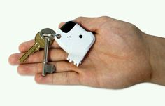 You whistle and the dog barks to help you find your keys, my wife needs this.
