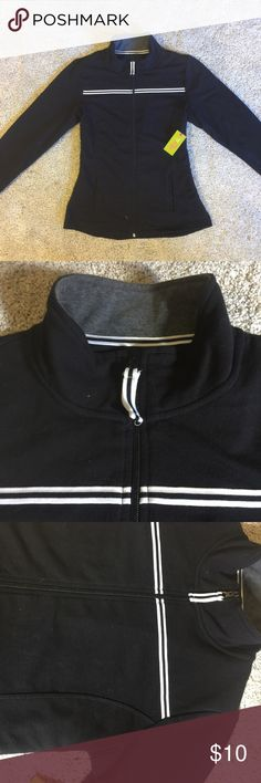 NWT Nordstrom fitted zip-up for workouts/loungin Super comfy soft workout fabric. Fitted with ribbing for a flattering - but not skin-tight- fit. Tops