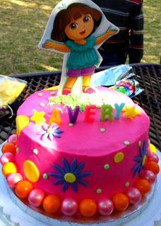 Dora the Explorer cake.. How to