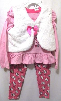 Charmmy Kitty Toddler Girls 3 Piece Outfit Licensed By Sanrio #Sanrio #Dressy