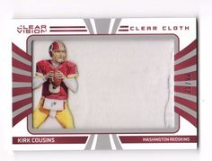 2016 Clear Vision Clear Cloth #3 Kirk Cousins Redskins Jersey 71/90